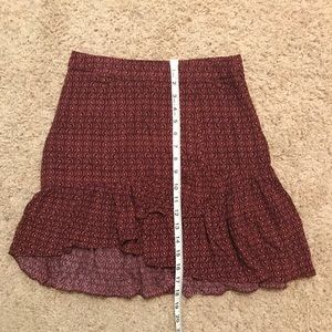 Free People Skirts - FREE PEOPLE Flare Ruffle Skirt!
